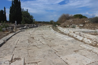 The paved section of street at Didyma, probably built by Trajan